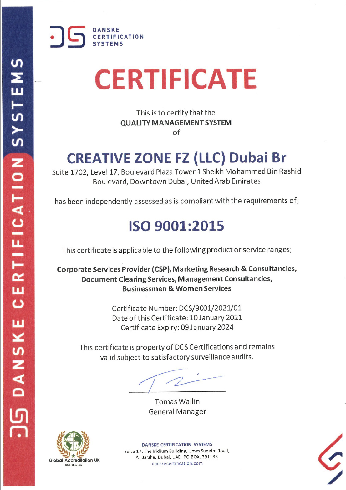 Creative Zone - Creative Zone is Now ISO Certified