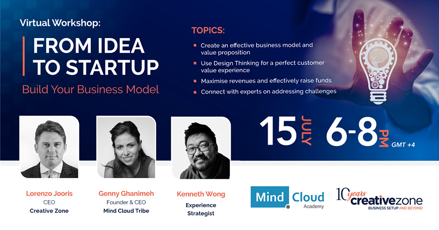 Creative Zone - Virtual Workshop: From Idea To Startup, Build Your Business Model