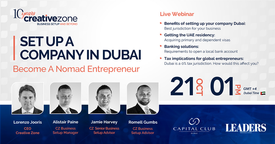 Creative Zone - Set Up A Company In Dubai - For The New Age Nomadic Entrepreneurs