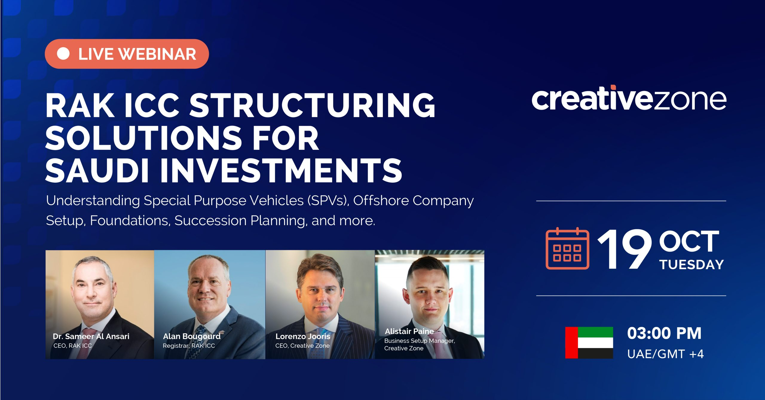Creative Zone - RAK ICC structuring solutions for Saudi inbound and outbound Investments