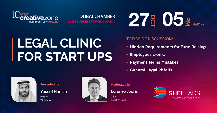 Creative Zone - She Leads Week 6 | Legal Clinic For Start Ups